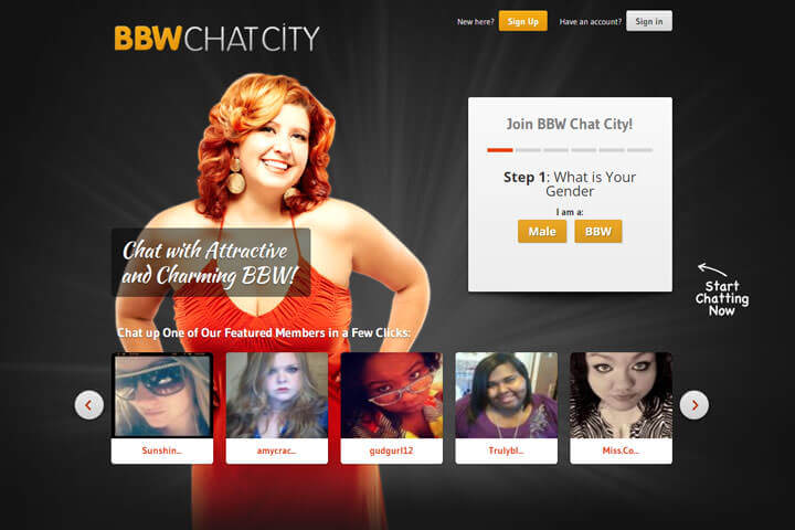 BBW Chat City homepage