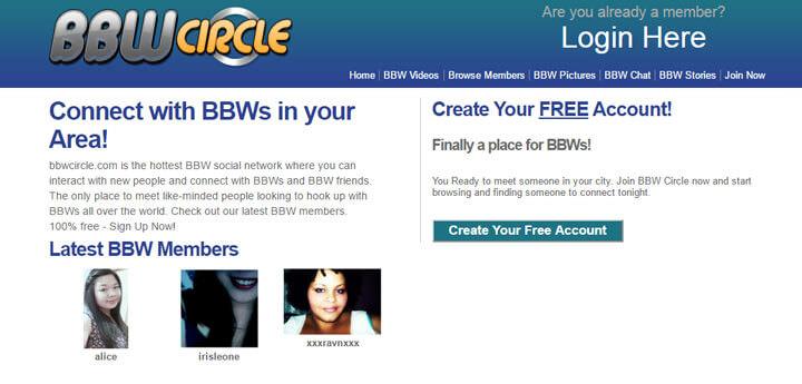 bbw circle home page