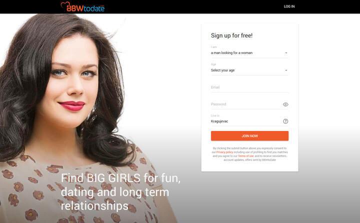 BBWtodate homepage printscreen